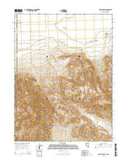 State Line Peak Nevada Current topographic map, 1:24000 scale, 7.5 X 7.5 Minute, Year 2014 from Nevada Maps Store