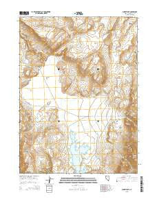 Summit Lake Nevada Current topographic map, 1:24000 scale, 7.5 X 7.5 Minute, Year 2015