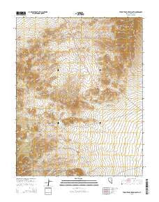 Tempiute Mountain South Nevada Current topographic map, 1:24000 scale, 7.5 X 7.5 Minute, Year 2015