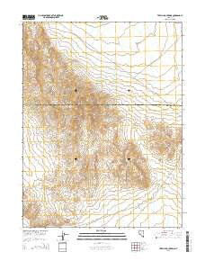 Terrill Mountains Nevada Current topographic map, 1:24000 scale, 7.5 X 7.5 Minute, Year 2015