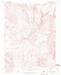 Thirsty Canyon Nevada Historical topographic map, 1:62500 scale, 15 X 15 Minute, Year 1966