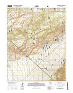Truman Meadows Nevada Current topographic map, 1:24000 scale, 7.5 X 7.5 Minute, Year 2015 from Nevada Map Store