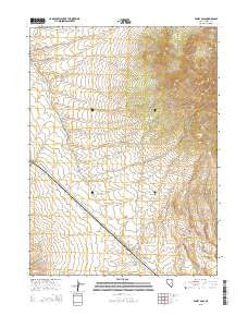 Valley Pass Nevada Current topographic map, 1:24000 scale, 7.5 X 7.5 Minute, Year 2015