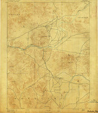 Wabuska Nevada Historical topographic map, 1:125000 scale, 30 X 30 Minute, Year 1891