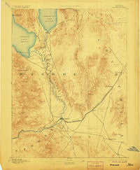 Wadsworth Nevada Historical topographic map, 1:125000 scale, 30 X 30 Minute, Year 1894