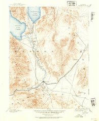 Wadsworth Nevada Historical topographic map, 1:125000 scale, 30 X 30 Minute, Year 1890