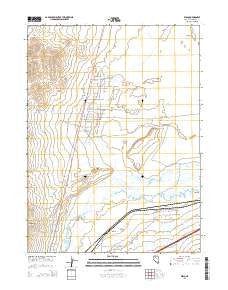 Weso Nevada Current topographic map, 1:24000 scale, 7.5 X 7.5 Minute, Year 2015