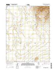 West of Beck Pass Nevada Current topographic map, 1:24000 scale, 7.5 X 7.5 Minute, Year 2014 from Nevada Maps Store