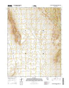 West of Whistler Mountain Nevada Current topographic map, 1:24000 scale, 7.5 X 7.5 Minute, Year 2015