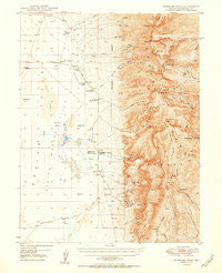 Wheeler Peak Nevada Historical topographic map, 1:62500 scale, 15 X 15 Minute, Year 1950