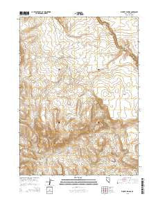 Whiskey Springs Nevada Current topographic map, 1:24000 scale, 7.5 X 7.5 Minute, Year 2015