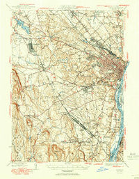 Albany New York Historical topographic map, 1:62500 scale, 15 X 15 Minute, Year 1950