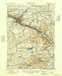 Amsterdam New York Historical topographic map, 1:62500 scale, 15 X 15 Minute, Year 1949