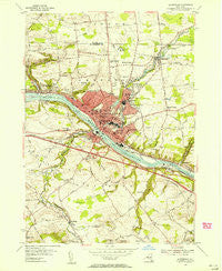 Amsterdam New York Historical topographic map, 1:24000 scale, 7.5 X 7.5 Minute, Year 1954