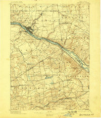 Amsterdam New York Historical topographic map, 1:62500 scale, 15 X 15 Minute, Year 1895
