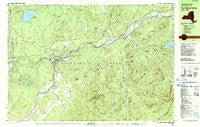 Au Sable Forks New York Historical topographic map, 1:25000 scale, 7.5 X 15 Minute, Year 1978