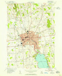 Auburn New York Historical topographic map, 1:24000 scale, 7.5 X 7.5 Minute, Year 1954