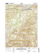 Batavia South New York Current topographic map, 1:24000 scale, 7.5 X 7.5 Minute, Year 2016 from New York Map Store