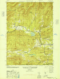 Bearsville New York Historical topographic map, 1:24000 scale, 7.5 X 7.5 Minute, Year 1946