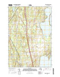 Beekmantown New York Current topographic map, 1:24000 scale, 7.5 X 7.5 Minute, Year 2016