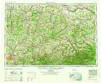 Binghamton New York Historical topographic map, 1:250000 scale, 1 X 2 Degree, Year 1963
