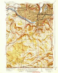 Binghamton West New York Historical topographic map, 1:31680 scale, 7.5 X 7.5 Minute, Year 1942