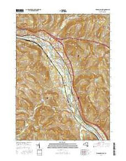 Binghamton East New York Current topographic map, 1:24000 scale, 7.5 X 7.5 Minute, Year 2016 from New York Maps Store