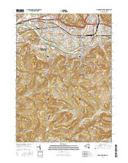 Binghamton West New York Current topographic map, 1:24000 scale, 7.5 X 7.5 Minute, Year 2016 from New York Maps Store