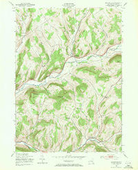 Bloomville New York Historical topographic map, 1:24000 scale, 7.5 X 7.5 Minute, Year 1943