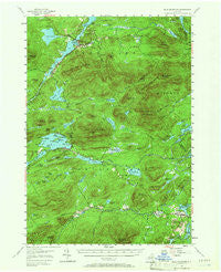 Blue Mountain New York Historical topographic map, 1:62500 scale, 15 X 15 Minute, Year 1954