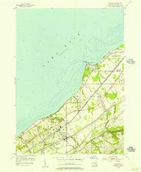 Brocton New York Historical topographic map, 1:24000 scale, 7.5 X 7.5 Minute, Year 1954