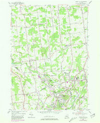 Burnt Hills New York Historical topographic map, 1:24000 scale, 7.5 X 7.5 Minute, Year 1954