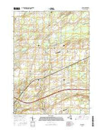Byron New York Current topographic map, 1:24000 scale, 7.5 X 7.5 Minute, Year 2016 from New York Map Store