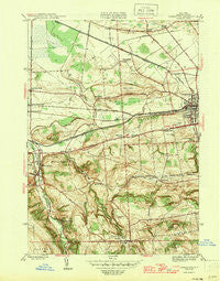 Canastota New York Historical topographic map, 1:31680 scale, 7.5 X 7.5 Minute, Year 1946