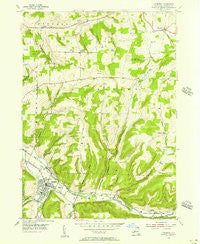 Canisteo New York Historical topographic map, 1:24000 scale, 7.5 X 7.5 Minute, Year 1954