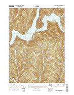 Cannonsville Reservoir New York Current topographic map, 1:24000 scale, 7.5 X 7.5 Minute, Year 2016 from New York Map Store
