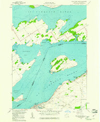 Cape Vincent North New York Historical topographic map, 1:24000 scale, 7.5 X 7.5 Minute, Year 1958