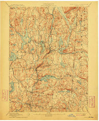 Carmel New York Historical topographic map, 1:62500 scale, 15 X 15 Minute, Year 1894
