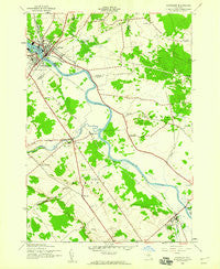 Carthage New York Historical topographic map, 1:24000 scale, 7.5 X 7.5 Minute, Year 1943