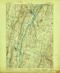 Catskill New York Historical topographic map, 1:62500 scale, 15 X 15 Minute, Year 1895