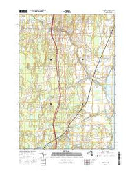 Champlain New York Current topographic map, 1:24000 scale, 7.5 X 7.5 Minute, Year 2016