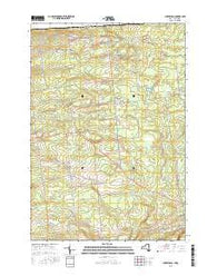 Churubusco New York Current topographic map, 1:24000 scale, 7.5 X 7.5 Minute, Year 2016