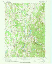 Clermont New York Historical topographic map, 1:24000 scale, 7.5 X 7.5 Minute, Year 1963