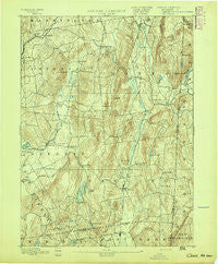 Clove New York Historical topographic map, 1:62500 scale, 15 X 15 Minute, Year 1894