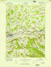 Cobleskill New York Historical topographic map, 1:24000 scale, 7.5 X 7.5 Minute, Year 1943