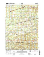 Corfu New York Current topographic map, 1:24000 scale, 7.5 X 7.5 Minute, Year 2016 from New York Map Store