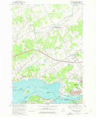 Cornwall West Ontario Historical topographic map, 1:24000 scale, 7.5 X 7.5 Minute, Year 1964