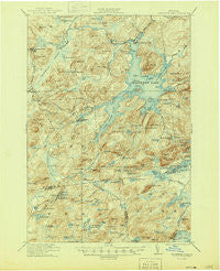 Cranberry Lake New York Historical topographic map, 1:62500 scale, 15 X 15 Minute, Year 1921