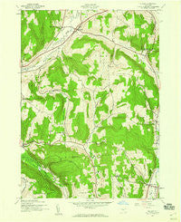 Cuyler New York Historical topographic map, 1:24000 scale, 7.5 X 7.5 Minute, Year 1943