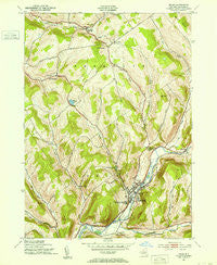 Delhi New York Historical topographic map, 1:24000 scale, 7.5 X 7.5 Minute, Year 1943